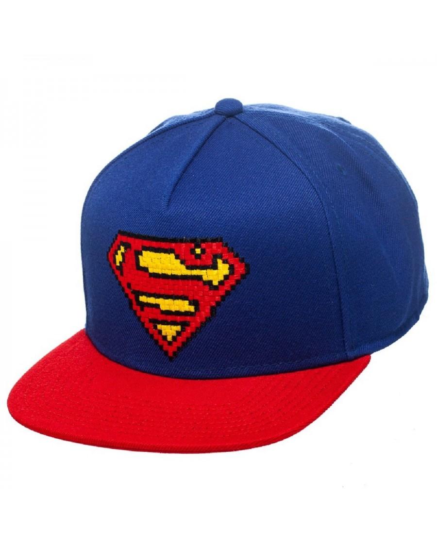 AWESOME 8-BIT SUPERMAN SNAPBACK CAP - Spike Dabomb d25c52f6d54