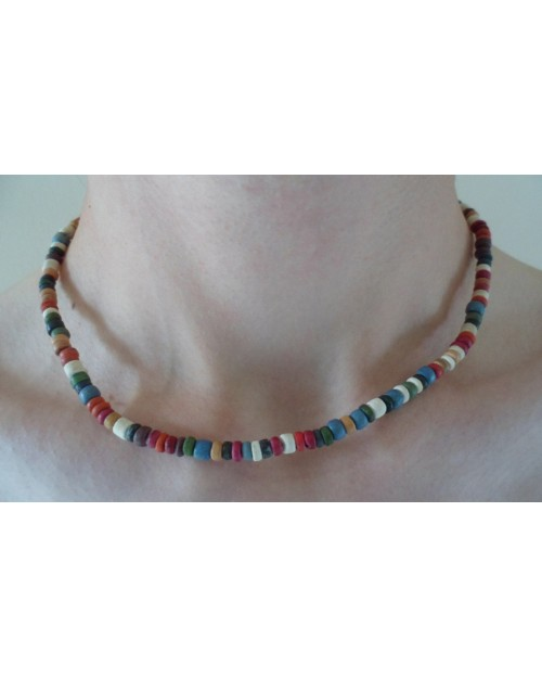 4-5mm EARTH TONE COCO POKALET NECKLACE
