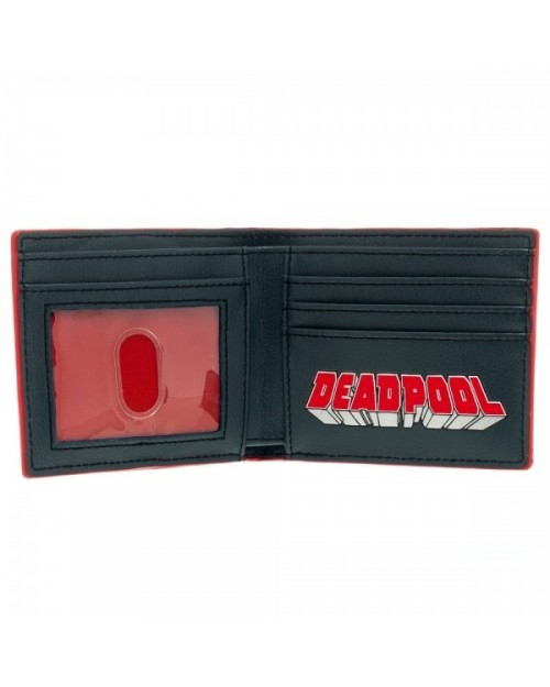 AWESOME MARVEL'S DEADPOOL RUBBER SYMBOL & PRINT BI-FOLD WALLET