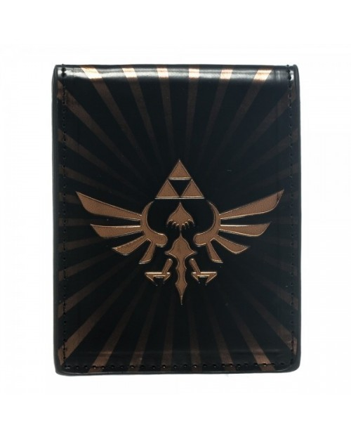 STUNNING THE LEGEND OF ZELDA TWILIGHT PRINCESS BIG TRIFORCE SYMBOL BI-FOLD WALLET