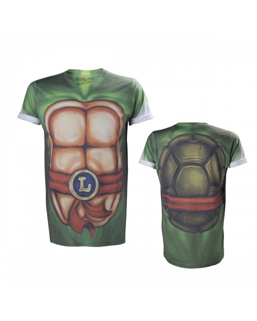 AWESOME TEENAGE MUTANT NINJA TURTLES LEONARDO BODY SUBLIMATION T-SHIRT