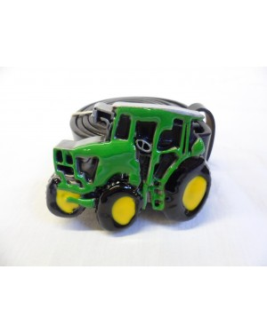 COOL GREEN, YELLOW AND BLACK TRACTOR BUCKLE with BELT