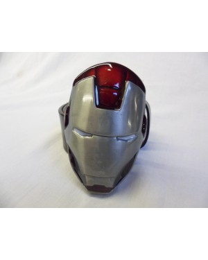 MARVEL'S IRON MAN SILVER CENTURION FULL MASK BUCKLE with BELT