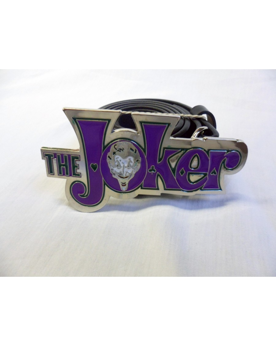 Dc Comics Batman The Joker Symbol Buckle With Belt Option Spike