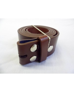 BROWN SPLIT LEATHER SNAP ON BELT. FOR MOST BUCKLES