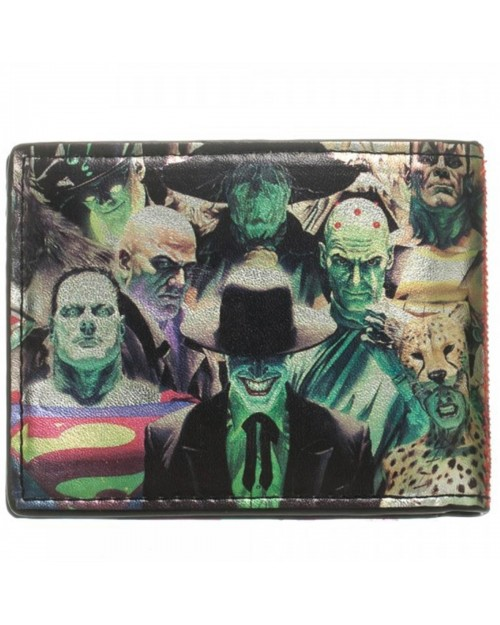 DC COMICS HEROES (SUPERMAN/ BATMAN) VS VILLAINS (THE JOKER/ CHEETAH/ BRAINIAC) BI-FOLD WALLET
