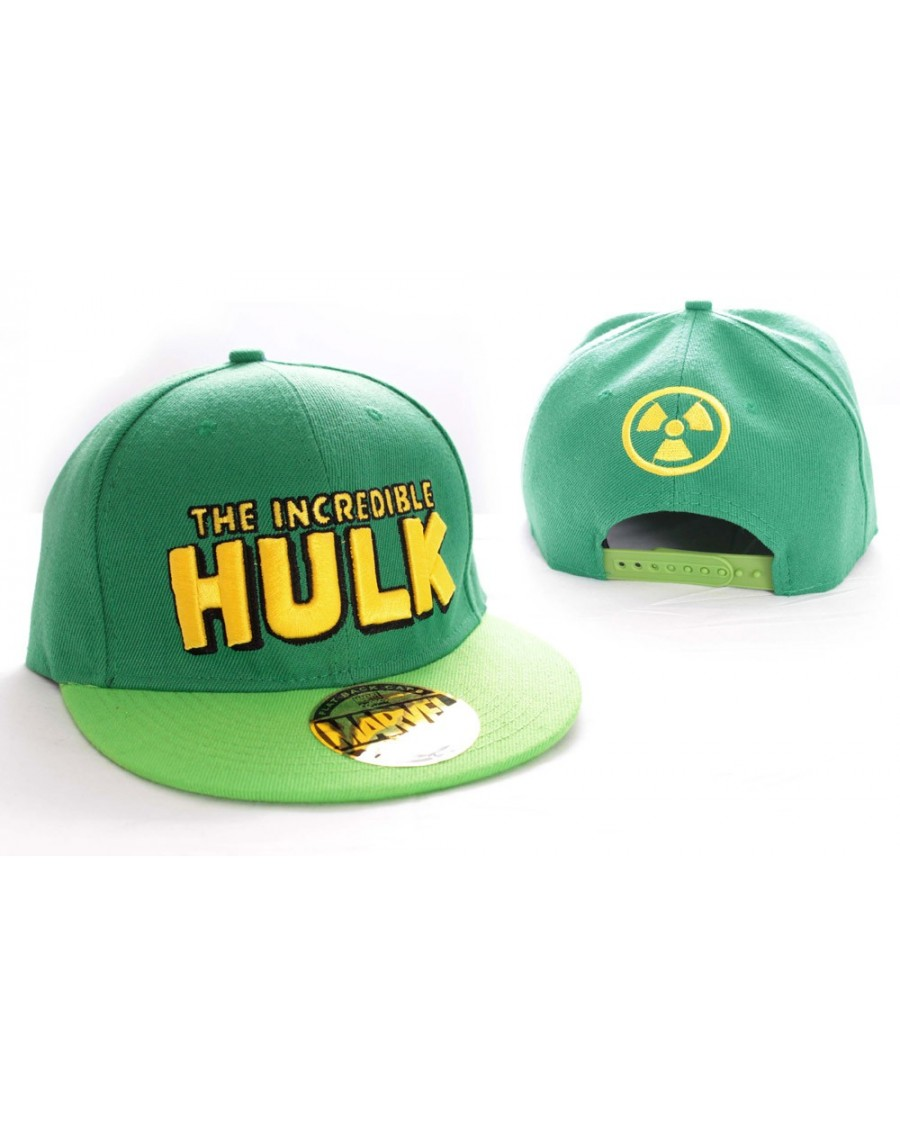 79421b6b94375 MARVEL S THE INCREDIBLE HULK GREEN RADIATION SNAPBACK CAP - Spike Dabomb