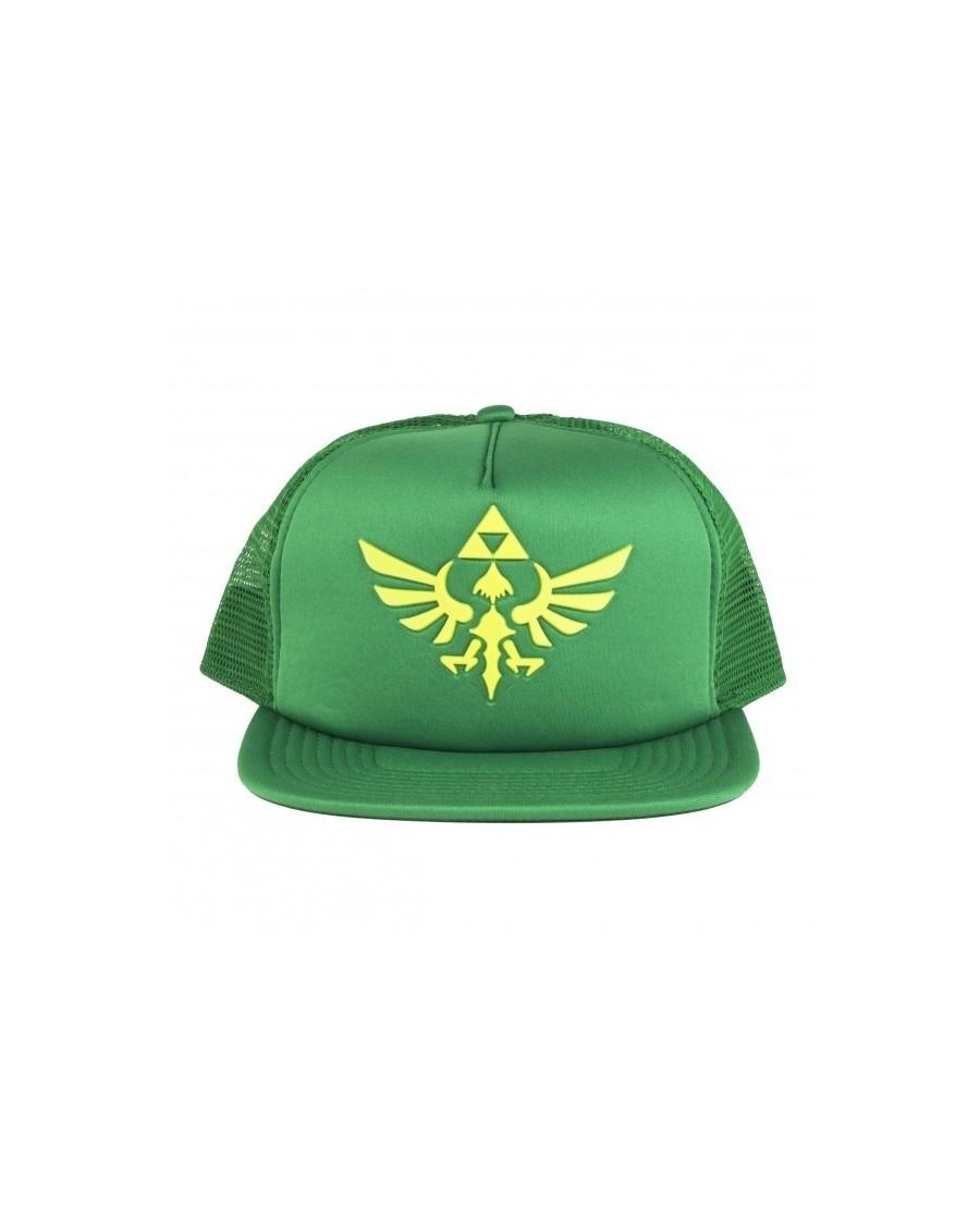 NINTENDO S THE LEGEND OF ZELDA GREEN TRUCKER TRIFORCE SNAPBACK CAP ... e82db61aa26