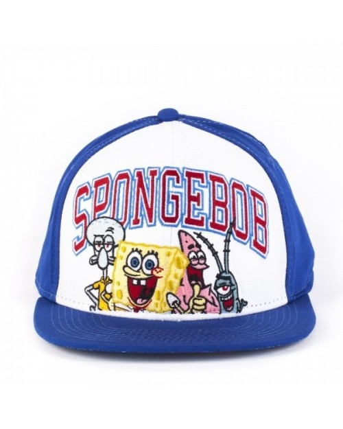 SPONGEBOB SQUARE PANTS GROUPED BLUE AND WHITE SNAPBACK CAP