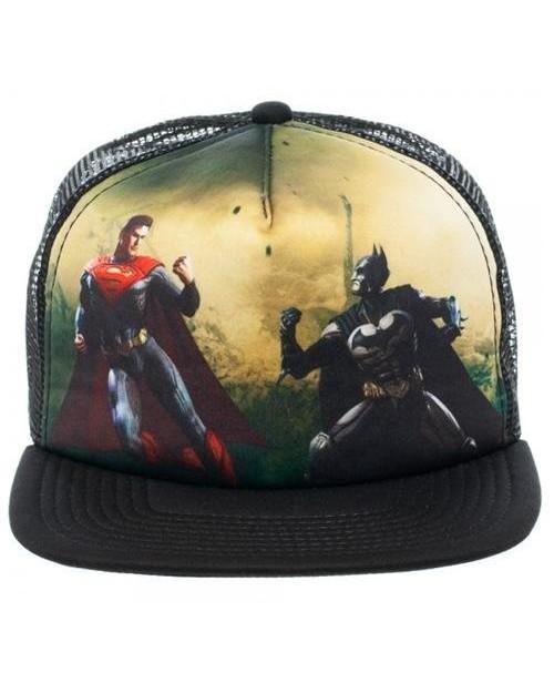 INJUSTICE GODS AMONG US BATMAN VS SUPERMAN TRUCKER SNAPBACK CAP