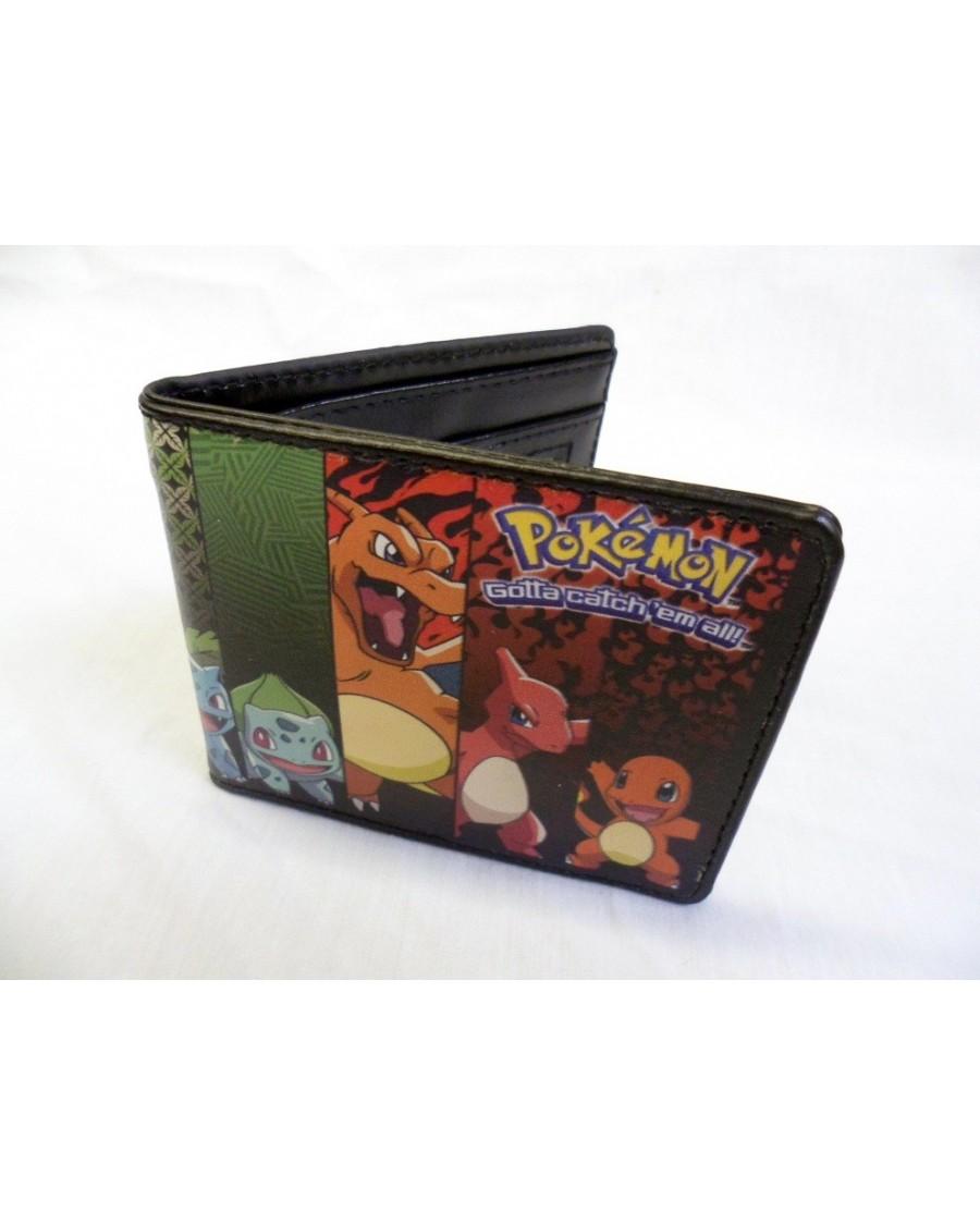 Nintendo Pokemon Original Starters Evolution Bi Fold Wallet
