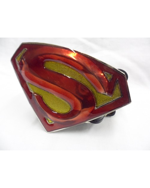 SUPERMAN RETURNS SYMBOL RED & GOLD BUCKLE with BELT