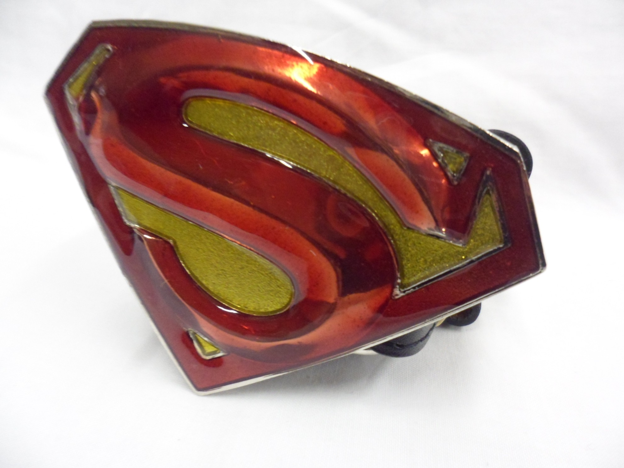Superman Returns Symbol Red Gold Buckle With Belt Spike Dabomb