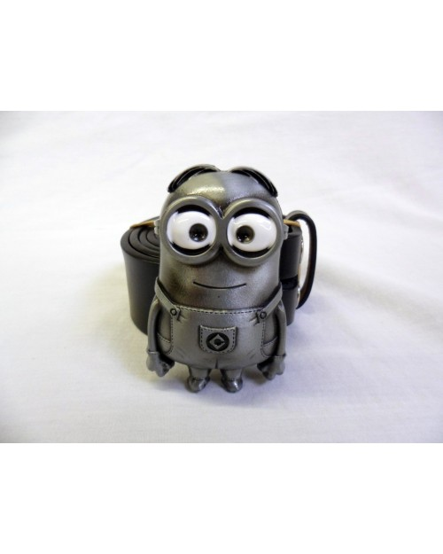 DESPICABLE ME SILVER MINION BUCKLE with BELT