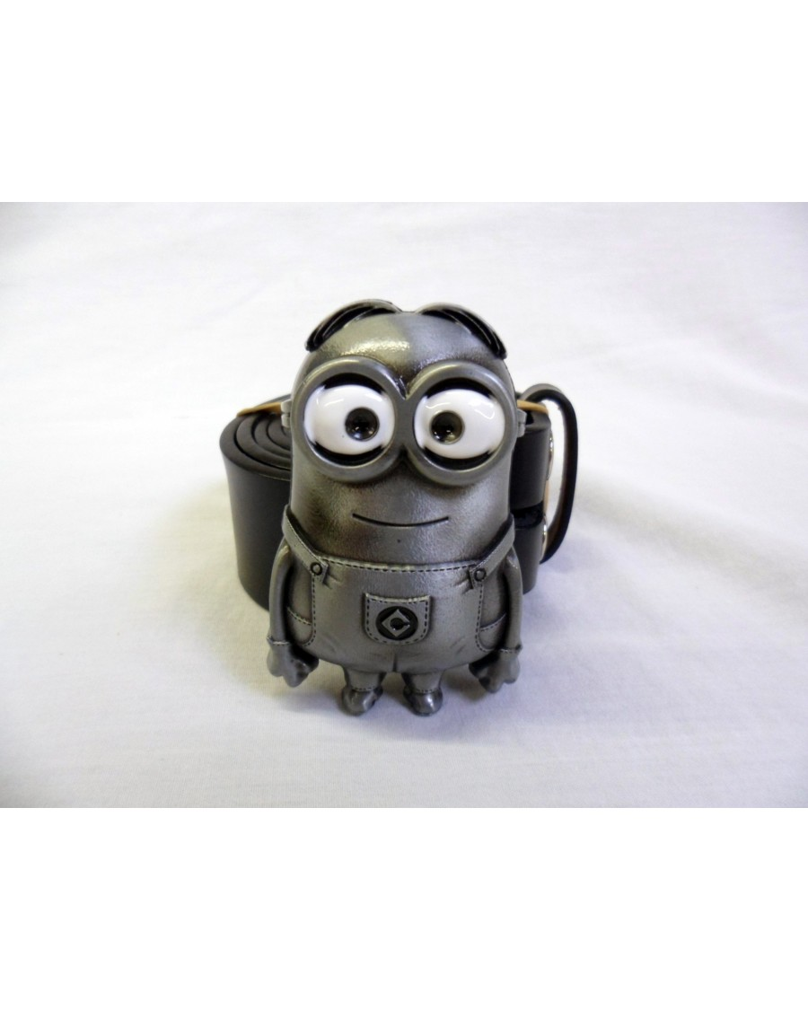 Despicable Me Silver Minion Buckle With Belt Spike Dabomb