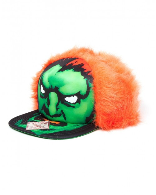 STREET FIGHTER FURRY BLANKA COSTUME SNAPBACK CAP