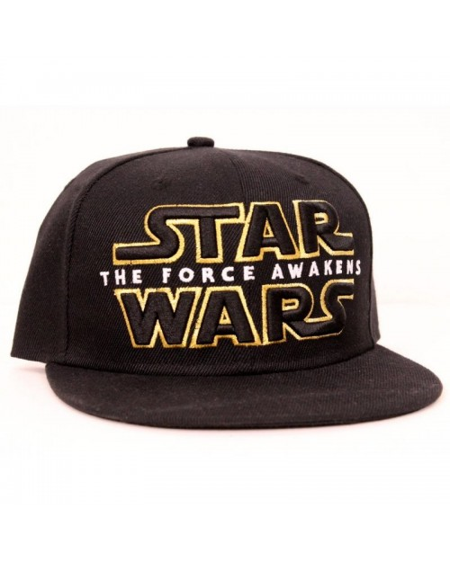 STAR WARS THE FORCE AWAKENS LOGO/ SYMBOL BLACK SNAPBACK CAP