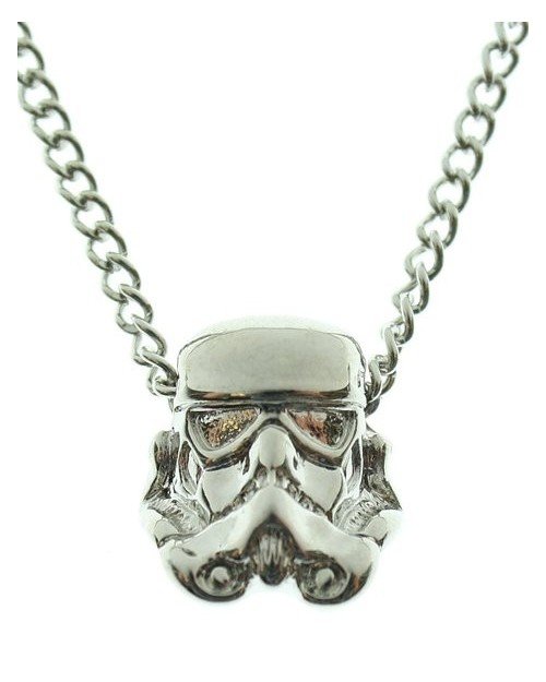 STAR WARS STORM TROOPER 3D GUN METAL PENDANT ON CHAIN NECKLACE
