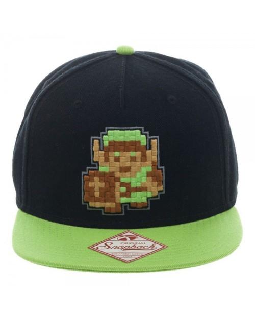 THE LEGEND OF ZELDA LINK 8-BIT BLACK & GREEN SNAPBACK CAP