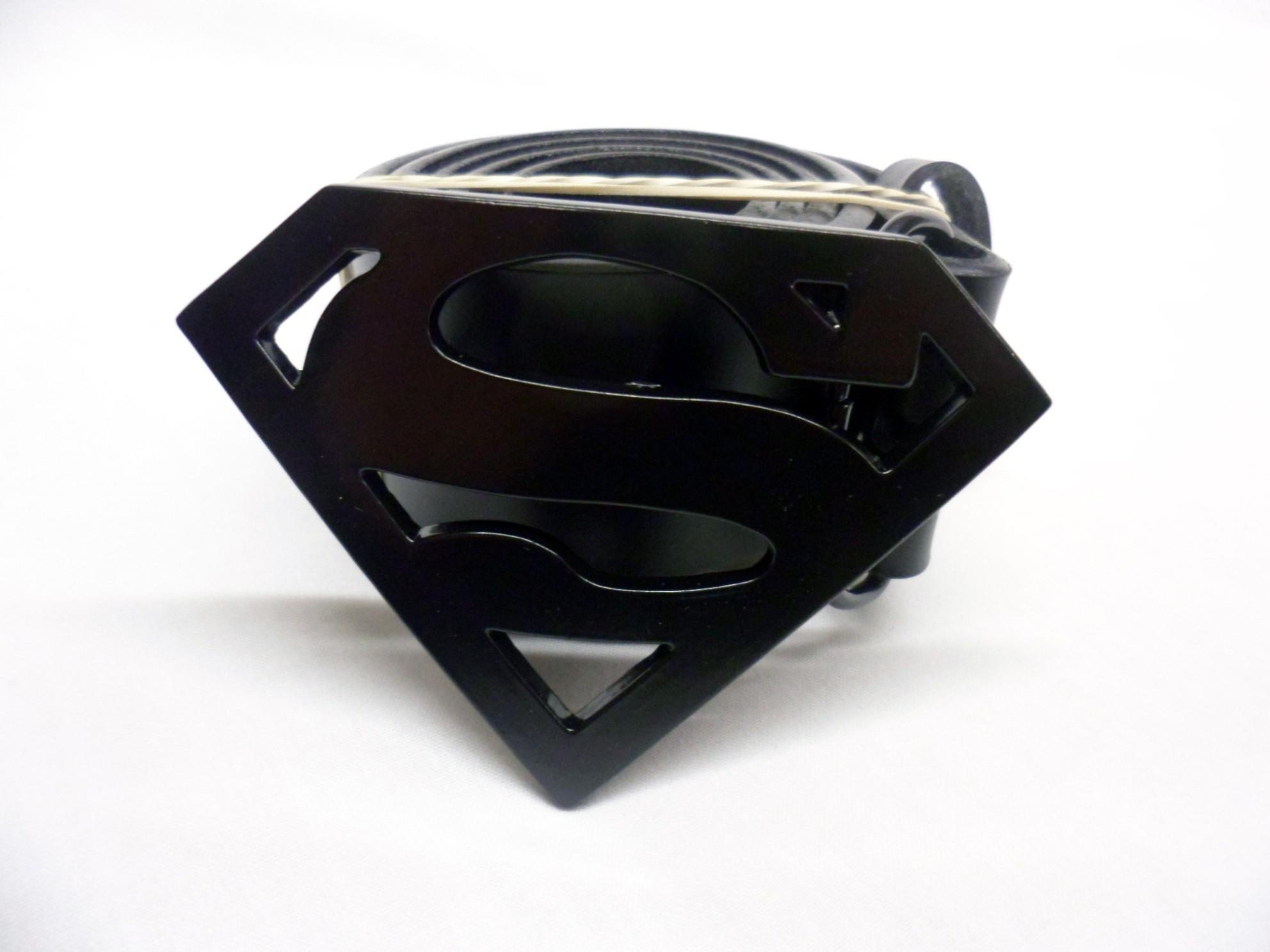 Dc Comics Superman Symbol Black Buckle Spike Dabomb