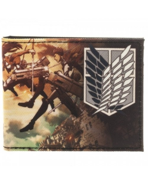OFFICIAL ATTACK ON TITAN SCOUTING REGIMENT ATTACK WALLET