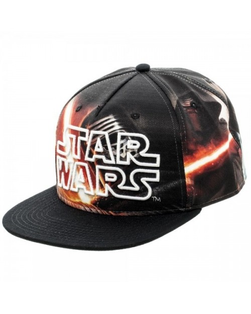 STAR WARS SYMBOL ALL OVER  KYLO REN  PRINT SNAPBACK CAP