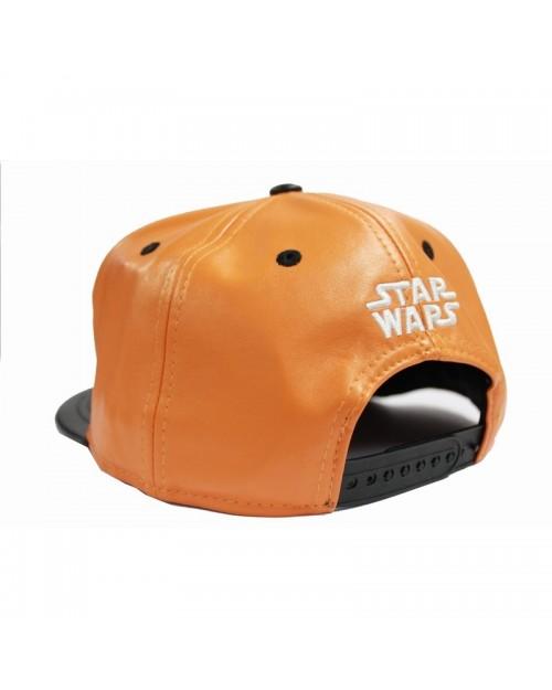 STAR WARS REBEL ALLIANCE SYMBOL ORANGE AND WHITE PU SNAPBACK CAP