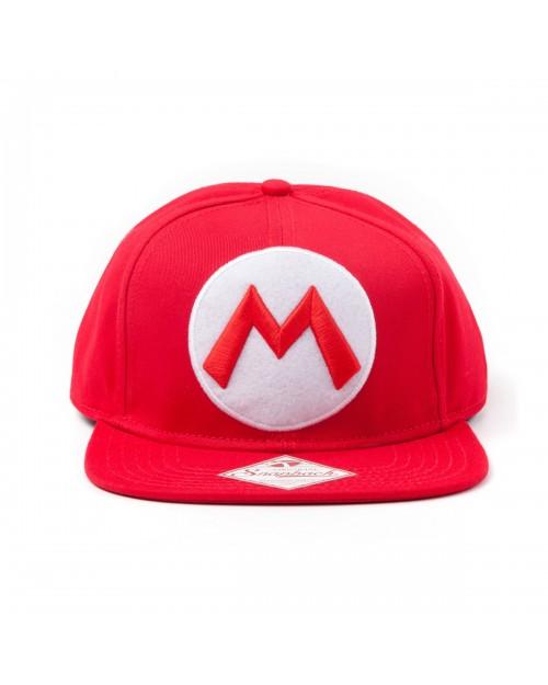NINTENDO SUPER MARIO BROS MARIO RED SNAPBACK CAP