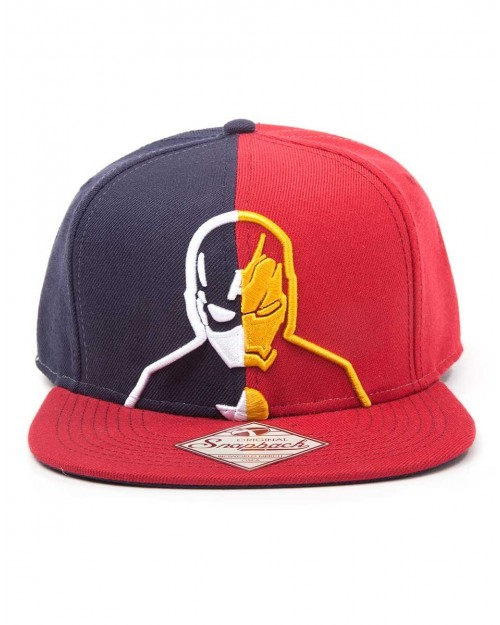 MARVEL COMICS CAPTAIN AMERICA CIVIL WAR CAP/ IRON MAN SPLIT SNAPBACK CAP