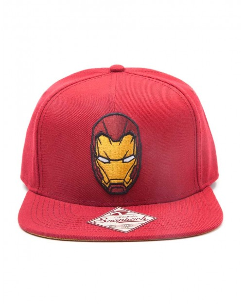 OFFICIAL MARVEL COMICS IRON MAN MASK RED SNAPBACK CAP