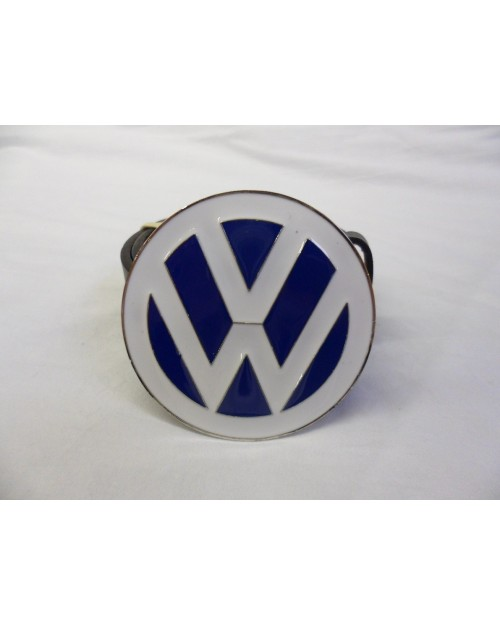 VW WHITE AND BLUE CAR BADGE LOGO BUCKLE with BELT