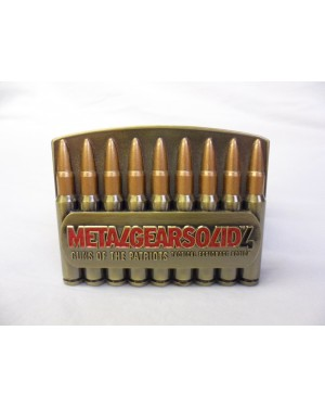 METAL GEAR SOLID 4 'GUNS OF THE PATRIOTS' BULLETS BUCKLE with BELT