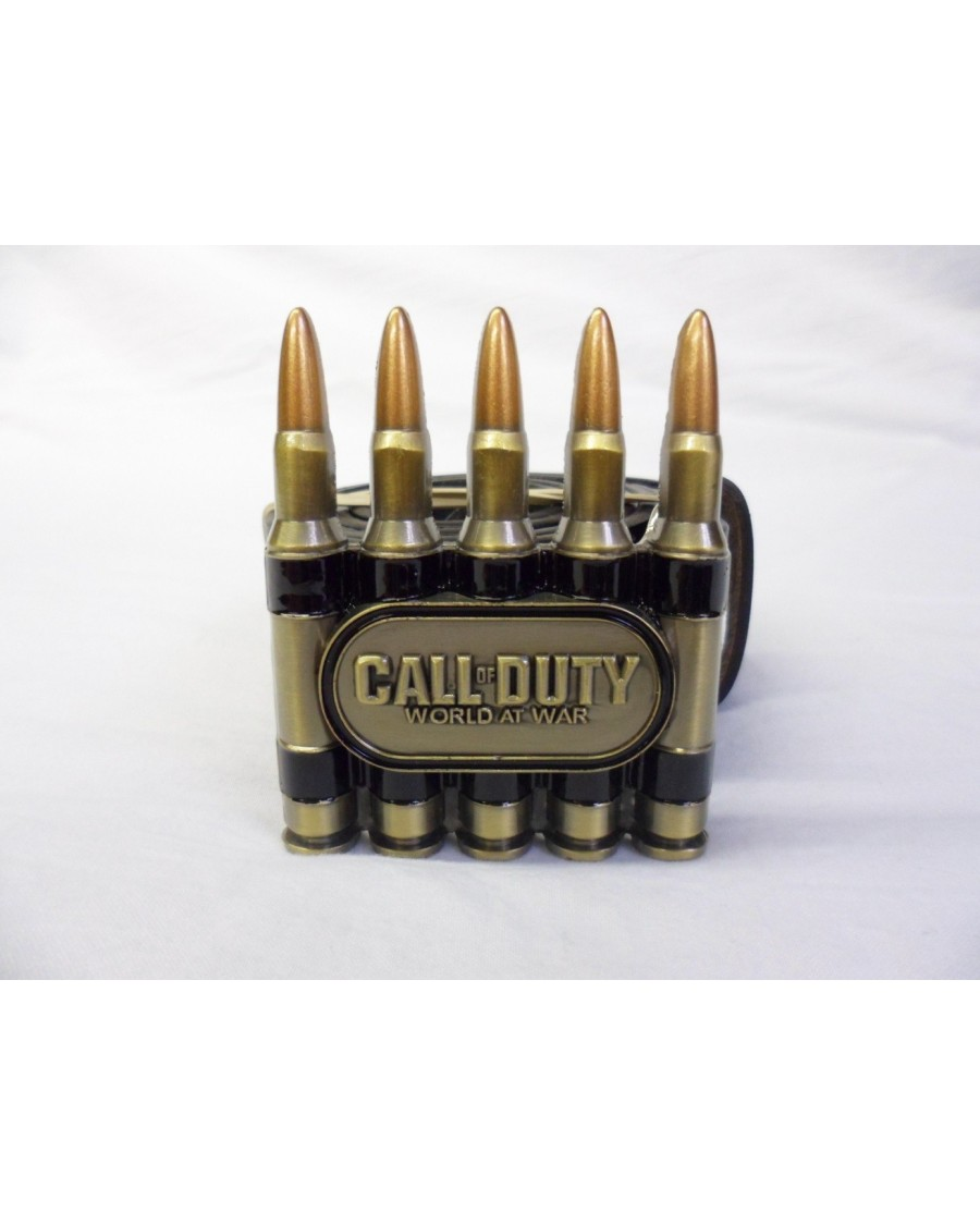 CALL OF DUTY WORLD AT WAR BULLETS BUCKLE with BELT