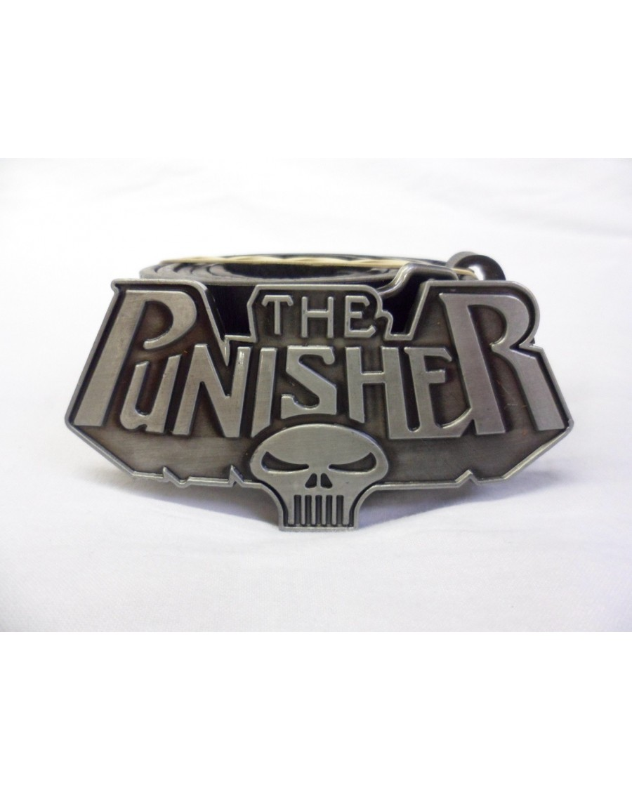 MARVEL COMICS THE PUNISHER TEXT & SKULL BUCKLE with BELT
