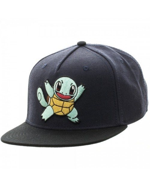 OFFICIAL NINTENDO POKEMON SQUIRTLE BLACK SNAPBACK CAP