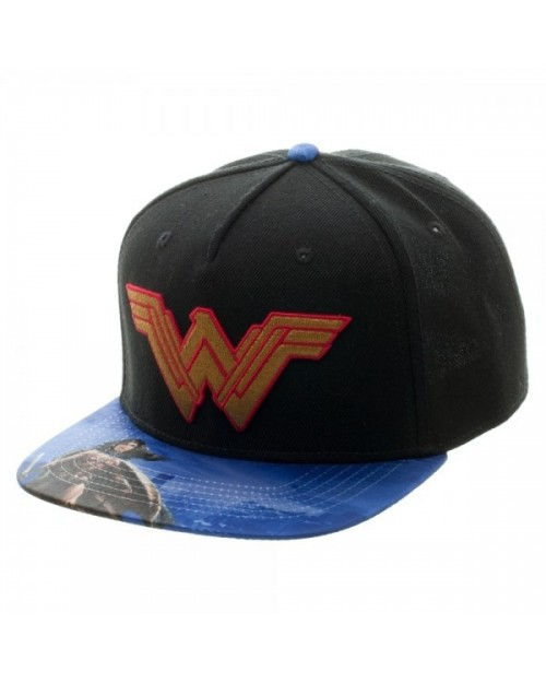 OFFICIAL DC COMICS BATMAN V SUPERMAN WONDER WOMAN SNAPBACK CAP WITH PRINTED VISOR