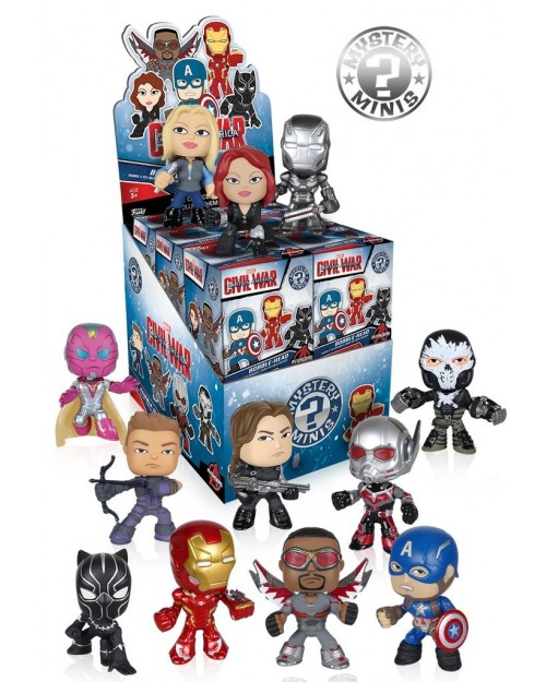 FUNKO MYSTERY MINI BLIND BOX BOBBLE HEAD: CAPTAIN AMERICA: CIVIL WAR