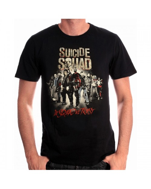 DC COMICS SUICIDE SQUAD THE WHOLE TEAM (IN SQUAD WE TRUST) T-SHIRT