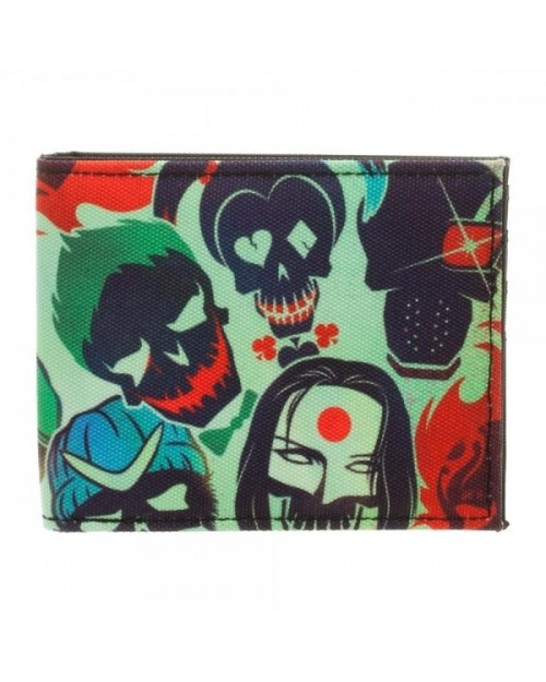 OFFICIAL DC COMICS SUICIDE SQUAD SKULL ICONS PRINTED BI-FOLD WALLET