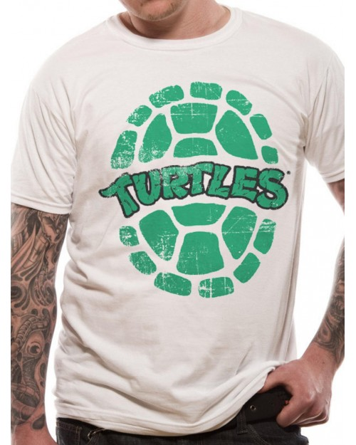 OFFICIAL TEENAGE MUTANT NINJA TURTLES SHELL WHITE T-SHIRT