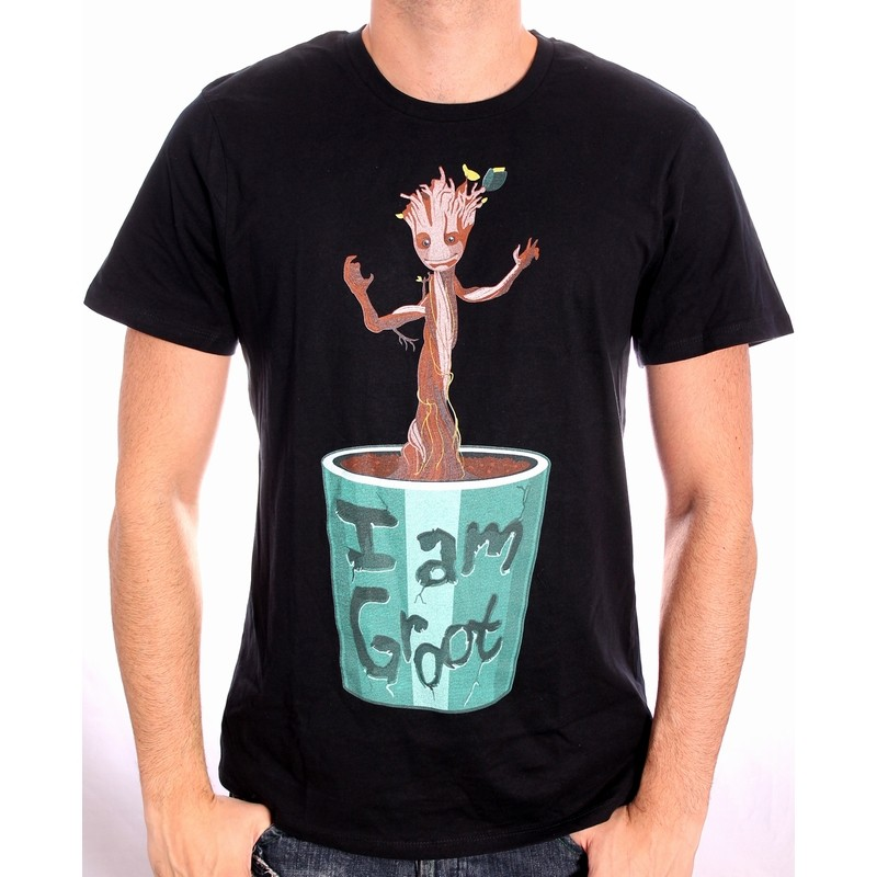 OFFICIAL MARVEL COMICS GUARDIANS OF THE GALAXY - I AM GROOT (BABY GROOT)  BLACK T-SHIRT e08336cb5
