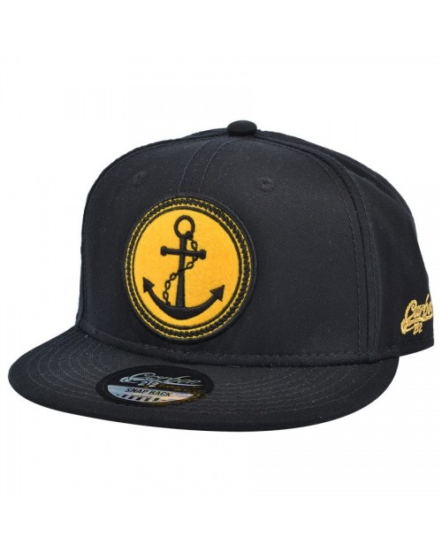 CARBON 212 SAILOR ANCHOR BLACK SNAPBACK CAP