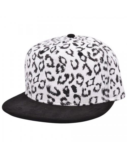 CARBON 212 LEOPARD PRINT WHITE & BLACK SNAPBACK CAP