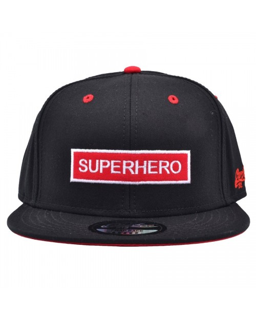 CARBON 212 SUPERHERO RED & WHITE BOX BLACK SNAPBACK CAP