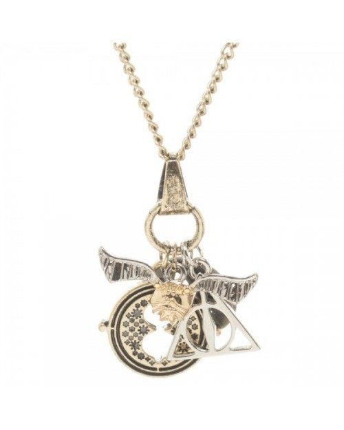 OFFICIAL HARRY POTTER 4 PIECE CHARM NECKLACE