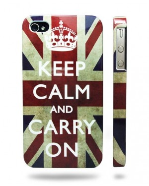 UNION JACK 'KEEP CALM and CARRY ON' IPHONE 4 & 4S HARD CASE