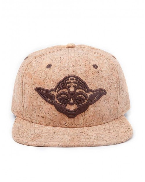 OFFICIAL STAR WARS YODA FACE CORK SNAPBACK CAP
