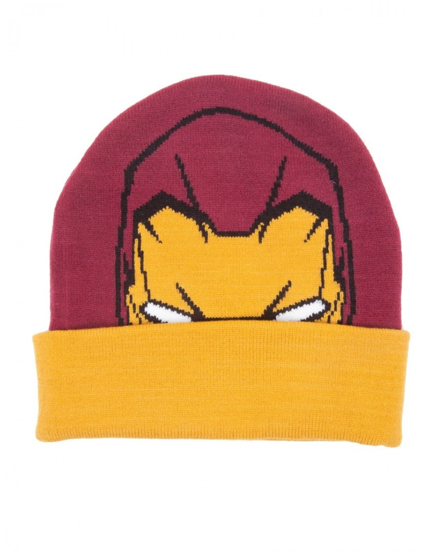 OFFICIAL MARVEL COMICS IRON MAN MASK BEANIE HAT