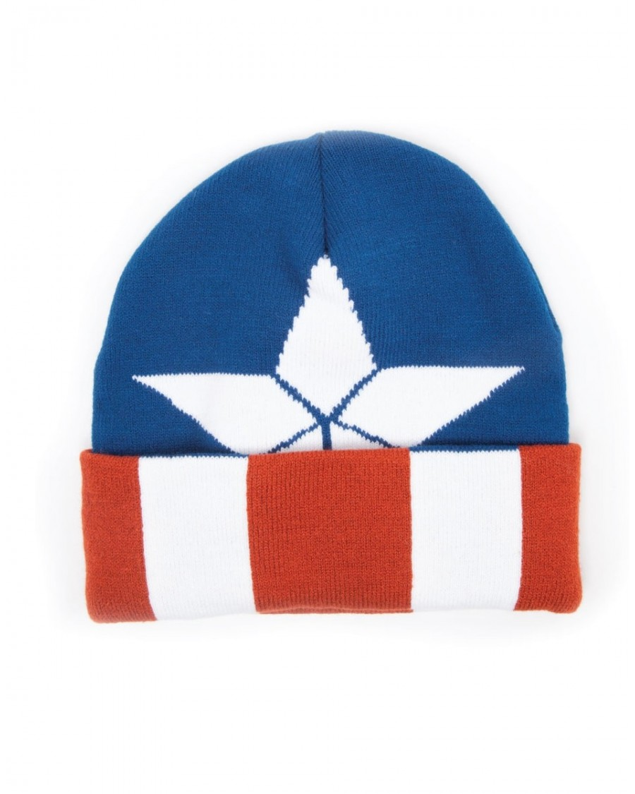 OFFICIAL MARVEL COMICS CAPTAIN AMERICA STAR (COSTUME STYLED) BEANIE HAT