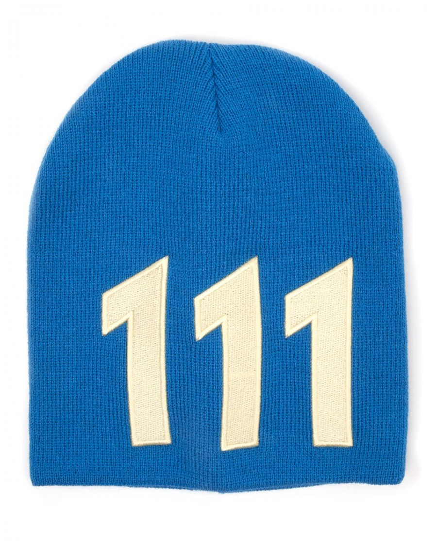 5337f9ec026a8 OFFICIAL FALLOUT 4 VAULT 111 BLUE AND YELLOW BEANIE HAT - Spike Dabomb
